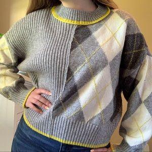 Pringle of Scotland X H&M crewneck argyle sweater